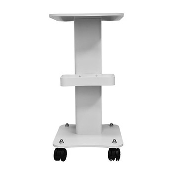 Multi Function Beauty Salon Wooden Trolley Use Pedestal Rolling Cart Wheel Aluminum Stand For Famialy Beauty Parlor And Salon