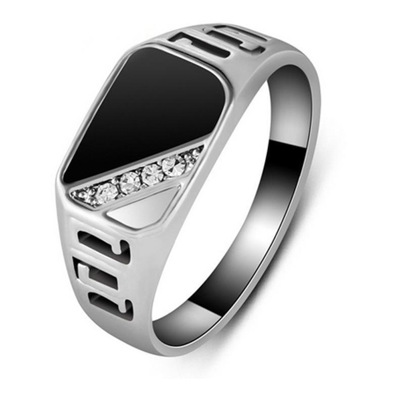 Watch Gold/silver-Color Jewelry-Accessories Zircon Men's Rings Anniversary Gift Boyfriend
