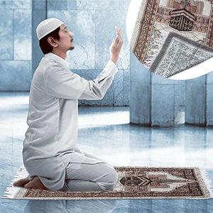 Image 2 - พรมพรมห้องนั่งเล่นหนาพู่ชั้น Soft บูชาเสื่อตกแต่งมุสลิมผ้าห่มสไตล์ชาติพันธุ์พรมสี่เหลี่ยมผืนผ้า