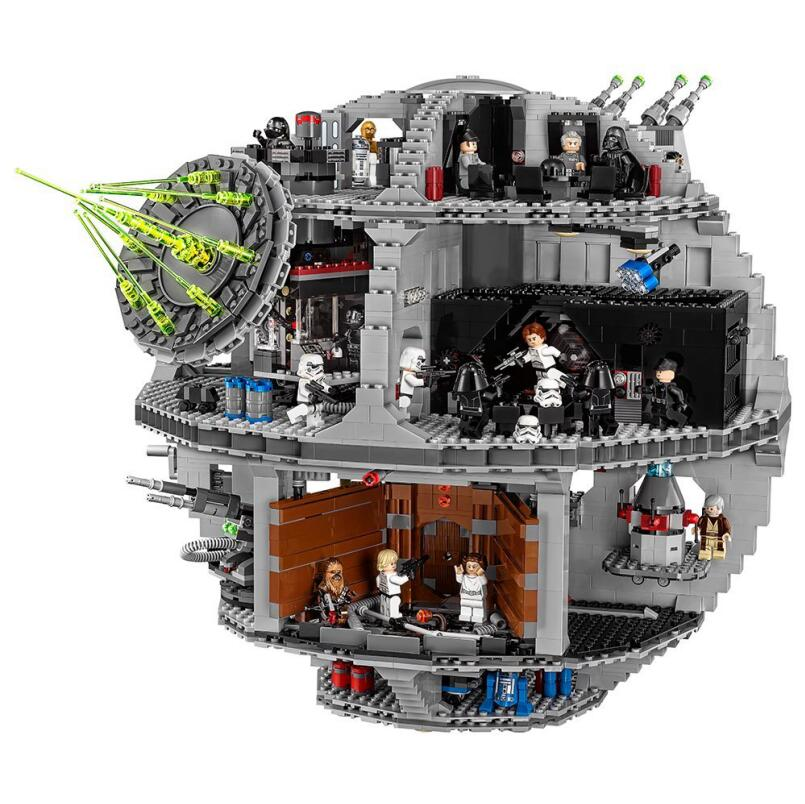 In Stock 05035 05063 <font><b>Star</b></font> Series <font><b>Wars</b></font> UCS Death <font><b>Star</b></font> Educational Building Blocks Bricks Toys Lepining 10143 10188 75159 image