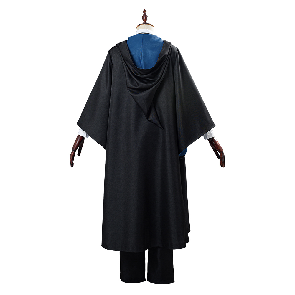 Fantasia ravenclaw para cosplay, uniforme escolar, roupa