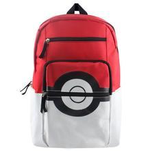 Anime Pokemon Backpack Pocket Monsters Canvas For Women Men Poke Ball Shoulder Schoolbags Mochila