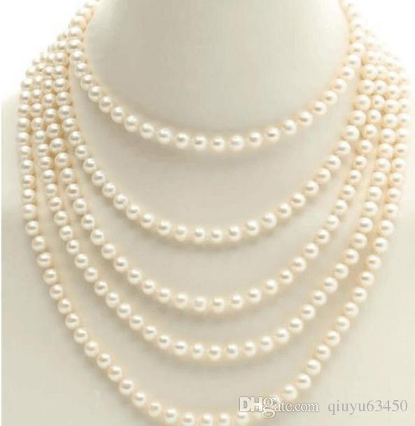 9-10mm white South Sea pearl necklace 18inch 14K Gold clasp