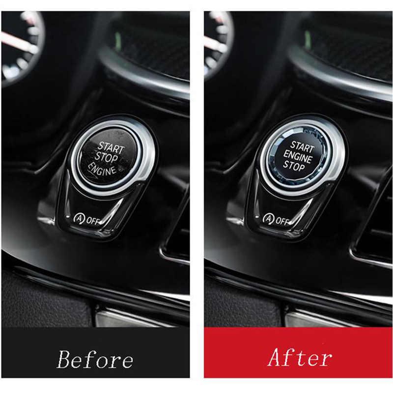 الكريستال سيارة محرك بدء وقف زر التبديل ملصقات ل BMW X1 E84 E81 E87 X5 E70 X6 E71 E90 E60 E91 E92 E93 Z4 E89 اكسسوارات
