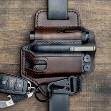 Multitool Leather Sheath Pocket Organizer Storage Belt Waist Bag for Camping GR5