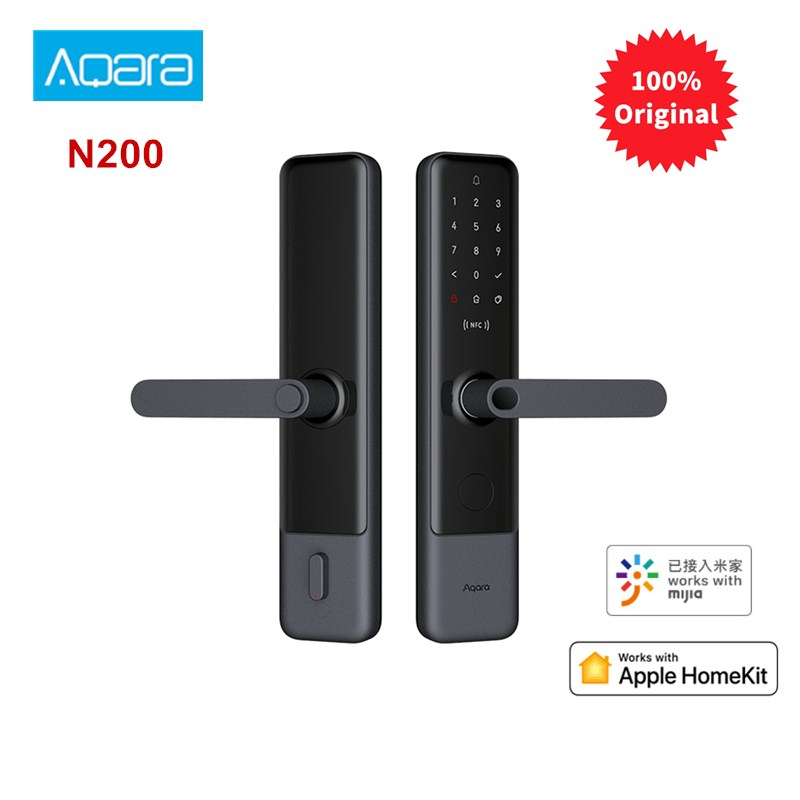 Aqara N200 Smart Door Lock Fingerprint Bluetooth Password NFC Unlock Works With Mijia Apple HomeKit Smart Linkage With Doorbell