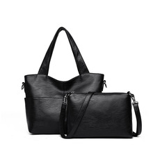 Women Handbag Leather Shoulder Bags 2 sets Famous Brand Designer Messenger Ladies Casual Tote sac a main