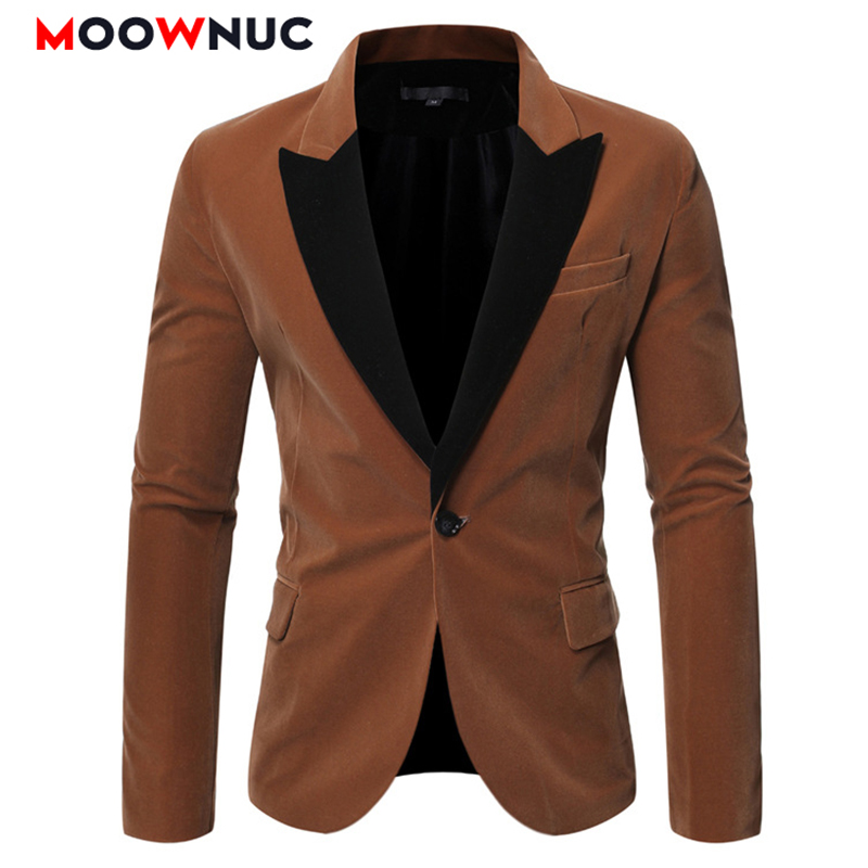 Autumn Coats Coverall Wedding Male Fashion Casual Suits Blazer Hombre MOOWNUC Brand Solid Men Smart Casual Groomsman Winter Slim