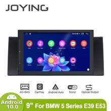 "9 ""rádio multimidia central ips 2din android 10 4gb 64gb 1280*720 unidade de cabeça bluetooth autoradio carplay para bmw série 5 e39 e53(China)"