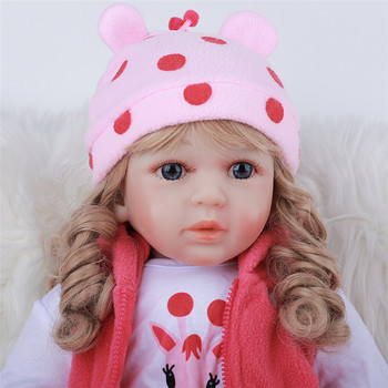 Reborn Baby Doll Bebe Reborn Realista Full Silicone Bebes Reborn Pink Lifelike Rebirth Doll 48cm Kids PlaymateChild  Kid Gifts keiumi realistic silicone reborn babies doll lifelike 22 princess baby girl doll gold hair bebe reborn toys for kids gifts