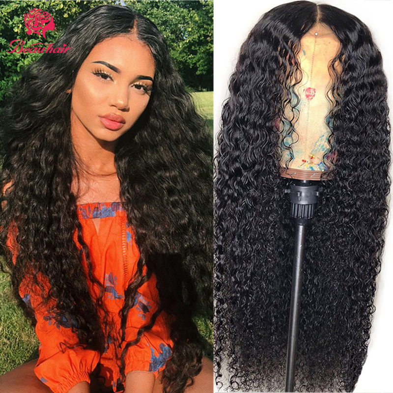 13X4 Lace Front Deep Curly Human Hair Wigs Brazilian Human Hair Lace Frontal Wig Jerry Curly Remy Lace Wig Glueness Bleach Knot