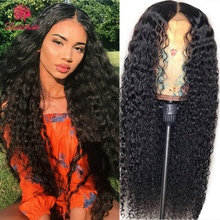 13X4 Lace Front Deep Curly Human Hair Wigs Brazilian Human H