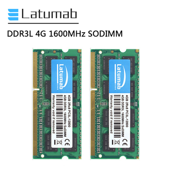 Latumab RAM DDR3L 4GB 8GB 16GB 1600MHz Laptop Memory PC3L-12800 SODIMM Memory 1.35V Notebook Memory Memoria DDR3 RAM Module ddr3l 8gb memory ram 1600mhz 1 35v sodimm ram 204pin laptop ram for amd ddr3 motherboard
