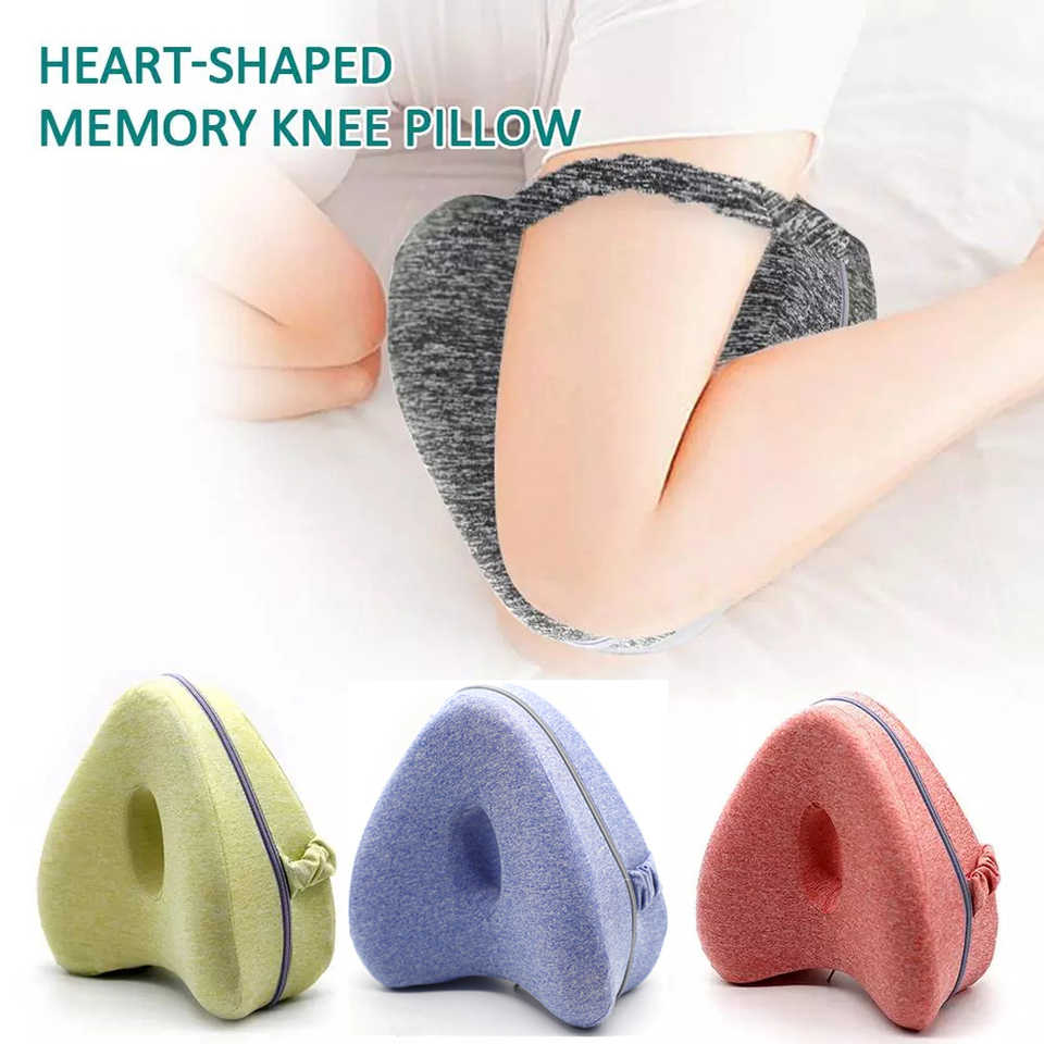 Knee Pillow Heart Shaped Leg Pillow,Leg Pillow Heart-Shaped Memory Knee Pillow Legacy Leg Pillow for Back Orthopedic Leg Positioner Pillows With Washable Cover For Relief Back Hips Knees Pain