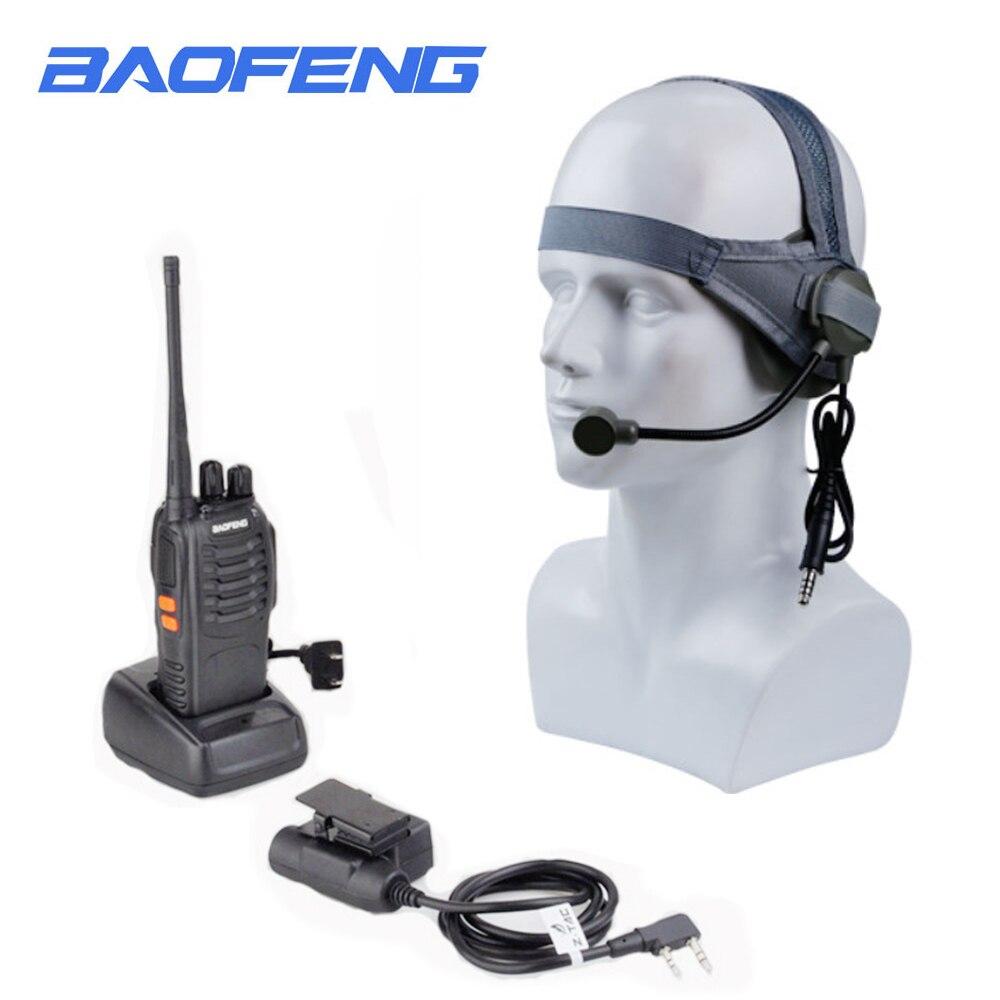 Baofeng 888s talkie-walkie avec U94 PTT et Z tactique CS casque de terrain 5W Pofung UHF 400-470 MHz radio bidirectionnelle