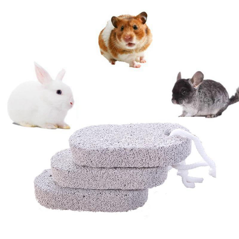 Safety And Health Oval Mineral Plus Calcium Bite Pet Molar Stone Hamster Rabbit Mineral Dental Care Chew Toy Small Pet Supplies