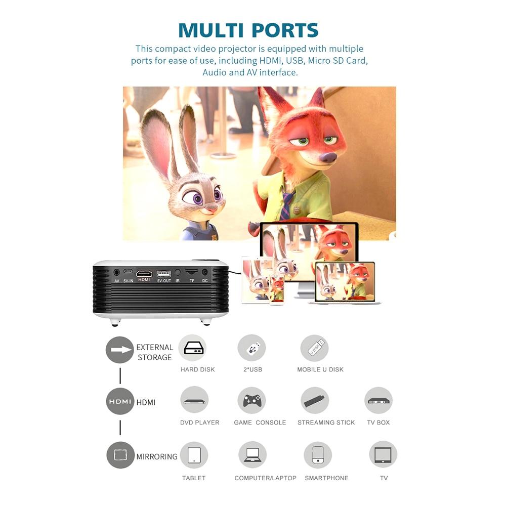 A2000 mini projetor 800 lumens 1080p lcd 50,000 horas de vida da lâmpada de cinema em casa projetor vídeo portátil-5