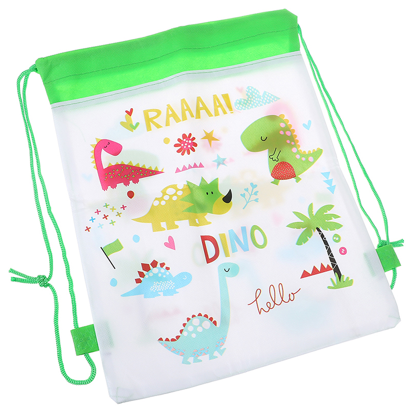 1PCS Cartoon Dinosaur Bags Drawstring Backpack Children Organizer Pouch Baby Clothes Clothings Laundry Bag