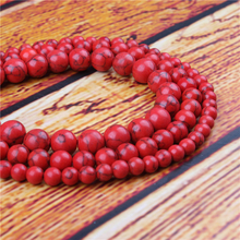 Korean Pine Natural Stone Bead Round Loose Spaced Beads 15 Inch Strand 4/6/8/10/12mm For Jewelry Making DIY Bracelet
