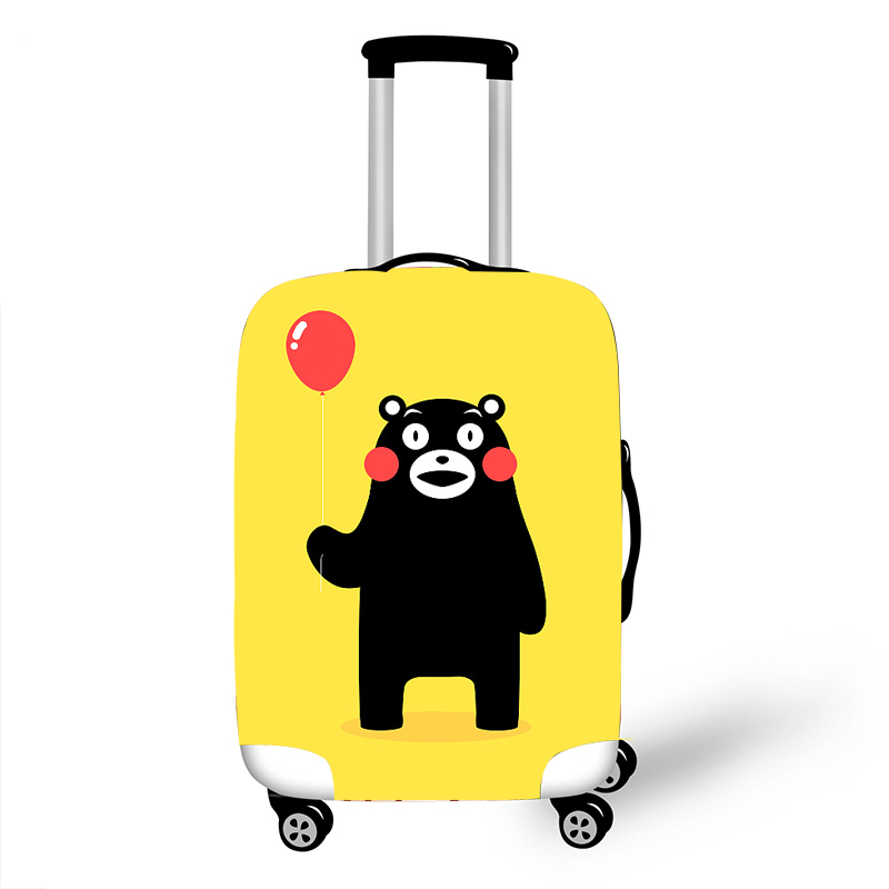 Elastic Luggage Protective Cover Case For Suitcase Protective Cover Trolley Cases Covers 3D Travel Accessories KumamonPattern T1