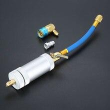 1/4SAE 2 uncja wtryskiwacz oleju R134A R12 R22 środek chłodniczy do oleju samochodowego wypełniacz Tube HVAC narzędzie wtryskiwacz barwnik OZ wtrysk narzędzia samochodowe