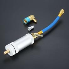 Inyector de aceite de 1/4SAE 2OZ R134A R12 R22, tubo de llenado de refrigerante de aceite de coche, herramienta de HVAC, herramientas de inyección de tinte oz