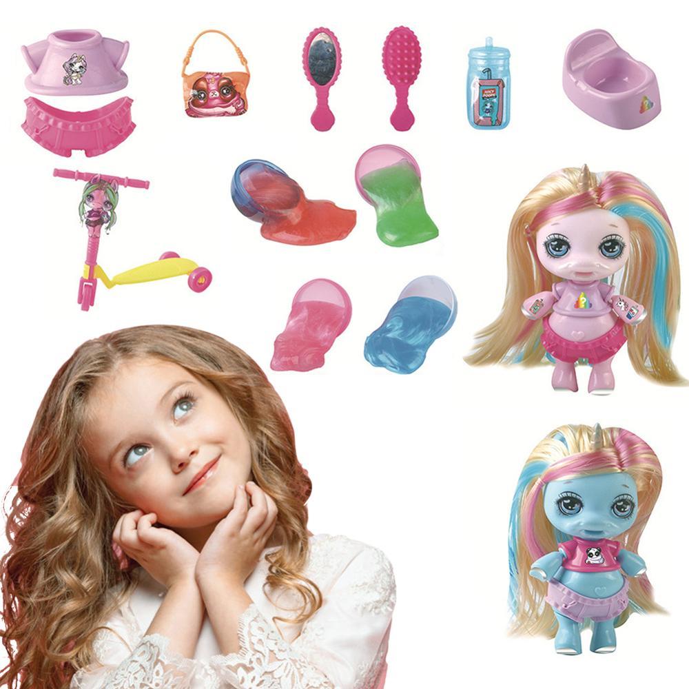 Novo sparkly poopsie slime surpresa unicórnio brinquedos para crianças suporte dropshipping atacado crianças entrega aleatória cor estilo