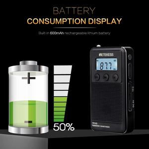 Image 5 - Retekess TR103 Pocket Portable Mini Radio FM / MW / SW Digital Tuning Radio 9/10Khz MP3 Music Player with Rechargeable Battery