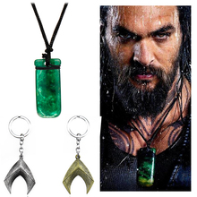DC Superhero Justice League Aquaman Necklaces Handmade Resin Rope Pendants Aquaman Weapon Aquaman logo Pendant Dropshipping aquaman the legend of aquaman