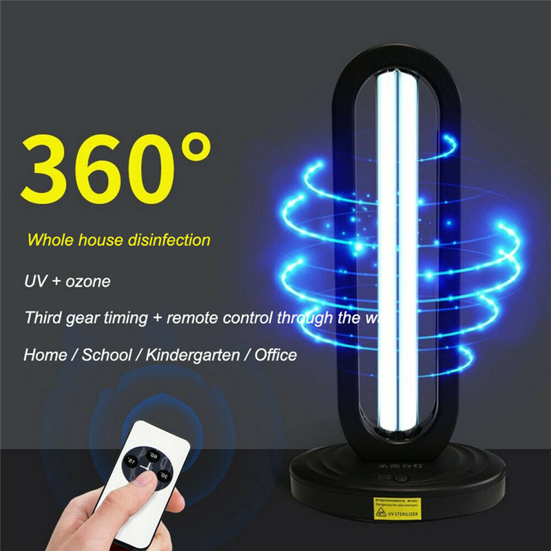 UV Disinfection Lamp 38W Ultraviolet Sterilizer Bulb Smart Timing Sterilize Light Home Ultraviolet Lamps UV Germicidal Light|Household UV Sterilizers| |  - title=