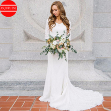 Three Quarter Sleeves Boho Wedding Dress Mermaid Vintage Lace Bridal Gowns 2020 V Neck vestido de noiva Simple vestido fiesta