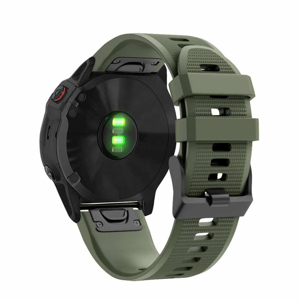 26mm pulseiras de silicone para garmin fenix 6x/fenix 6x pro correias mais 6x + substituição faixas de reloj de silicona 2020