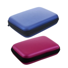 2 Pcs Portable Hard Disk Drive Shockproof Zipper Cover Bag Case