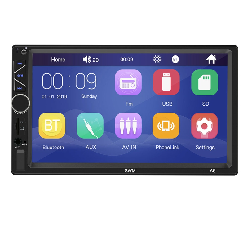 7 Inch Car Multifunction Player DVD MP5 Radio Bluetooth Player the New Player Support AUX Function Video Output|Car CD Player| |  - title=