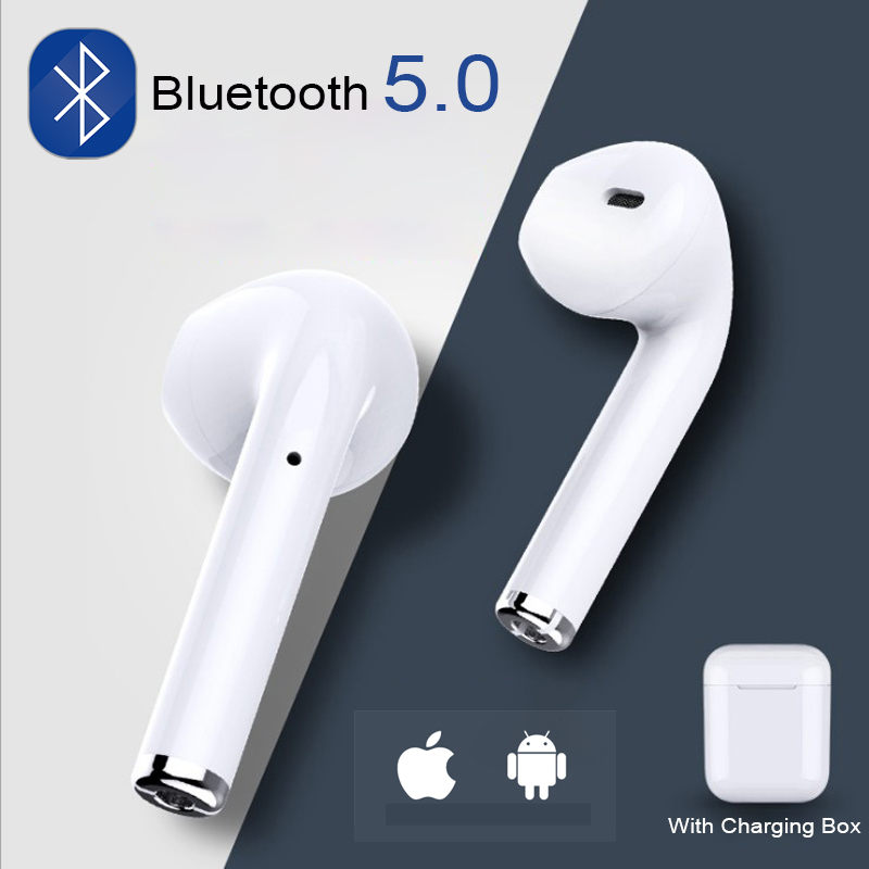 i7s TWS Wireless Bluetooth Earphone Stereo Earbud Headset Headphones Mic For Airpods iPhone Xiaomi Android All Smart Phone Box