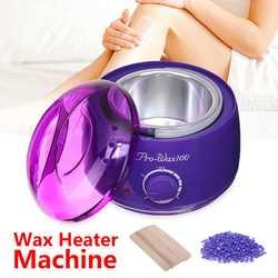 LUCKFINE parafiniarka wosk do depilacji cieplej zestaw podgrzewacz wosku maszyna 500cc 100g 100g wosk fasoli do SPA ręce stóp|Podgrzewacze do wosku|   -
