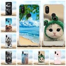 For Xiaomi Mi A2 6X Case Ultra-thin Soft TPU Silicone Cover Cartoon Patterned Bumper Funda
