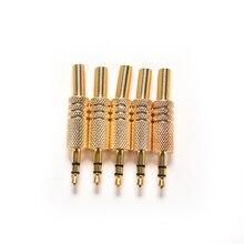 5 adet 3.5mm stereo ses jakı fiş Mini 1/8 inç Jack tak kulaklık erkek tak Coax kablo ses adaptörü konnektör lehimleme
