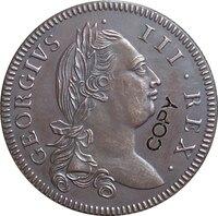 أيرلندا <1774-1782> 5 عملات معدنية نسخة