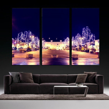 Modern Colorful Photo Picture city Room Decor 3 pcs Cities Canvas Art Painting Living Bedroom