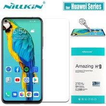 Huawei Honor 20 10 Pro 9X 8X กระจกนิรภัย Mate 20 X ป้องกันหน้าจอ Nillkin 9H Hard Clear ความปลอดภัยแก้ว Huawei P30 P20 Lite