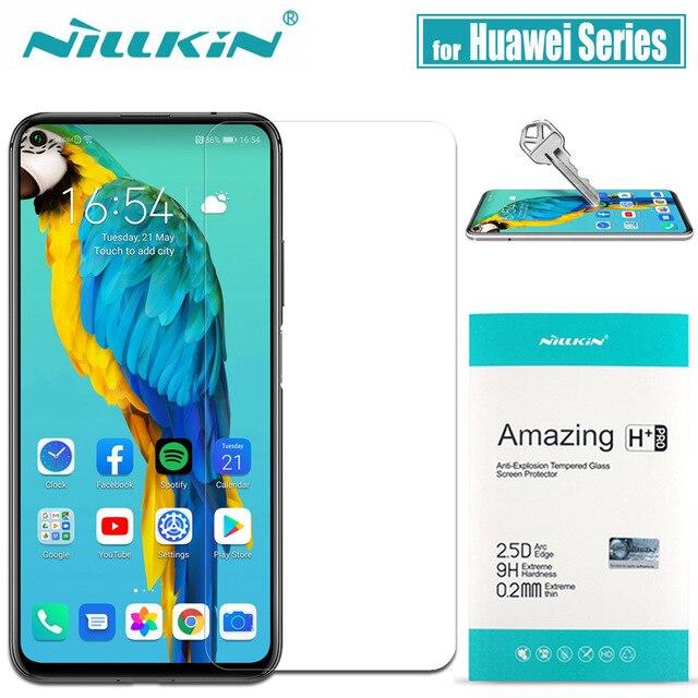 Huawei Onur 20 10 Pro 9X 8X Temperli Cam Mate 20 X Ekran Koruyucu için Nillkin 9H Sert Şeffaf Güvenlik cam Huawei P30 P20 Lite