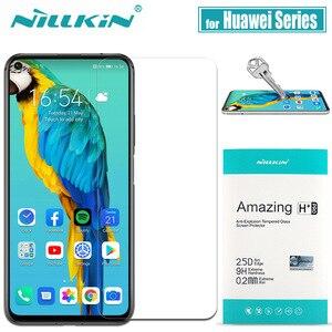 Image 1 - Protector de pantalla para Huawei Honor 20 10 Pro 9X 8X cristal templado Mate 20 X Nillkin 9H cristal de seguridad transparente duro en Huawei P30 P20 Lite