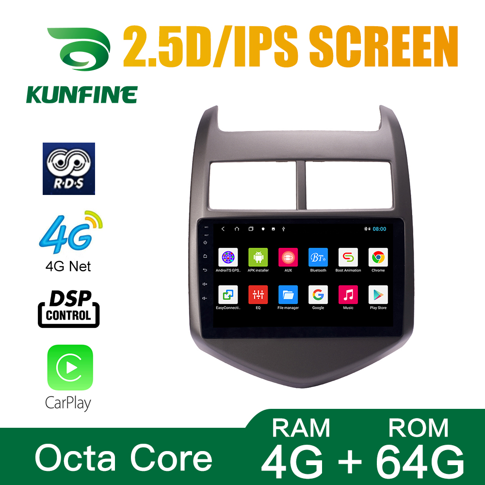 Octa Core 1024*600 Android 10.0 Car DVD GPS Navigation Player Deckless Car Stereo for Chevrolet <font><b>AVEO</b></font> 2011-<font><b>2013</b></font> Radio Headunit image