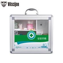 Transparent Medicine Box Wall-mounted Hospital First Aid Kit Medicine Storage Box Aluminum Alloy Safety Medicine Box Service box все цены