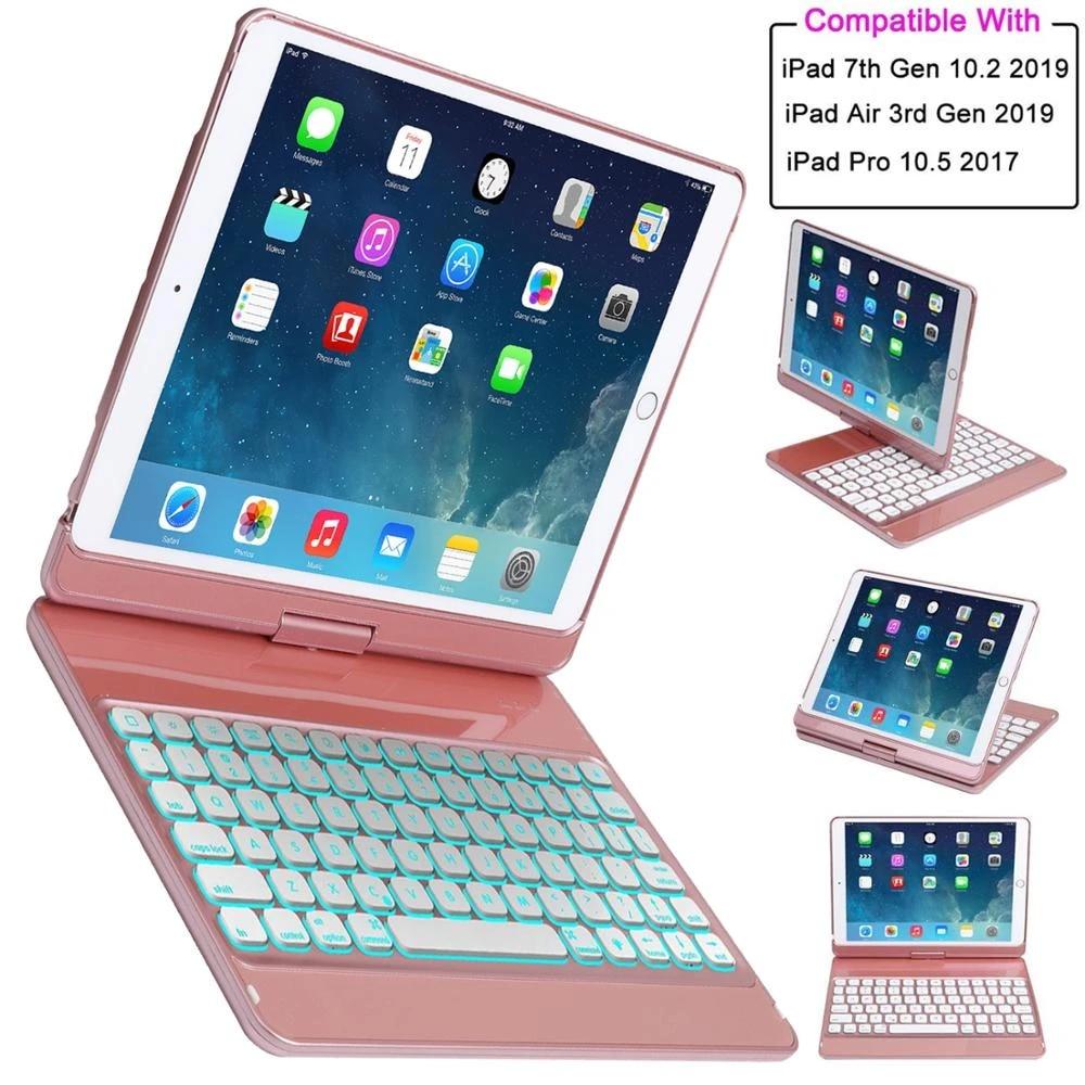 Toetsenbord Case Voor Ipad 10 2 2019 Ipad Air 10 5 2019 Ipad Pro 10 5 2017 Ipad 7th Generatie Case Met Toetsenbord 360 Draaien Cover For Ipad Bluetooth Keyboard Casekeyboard Case Aliexpress