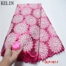 Sequins Lace Mesh Tulle Organza Nigerian French High-Quality African New for Party-Olp-160