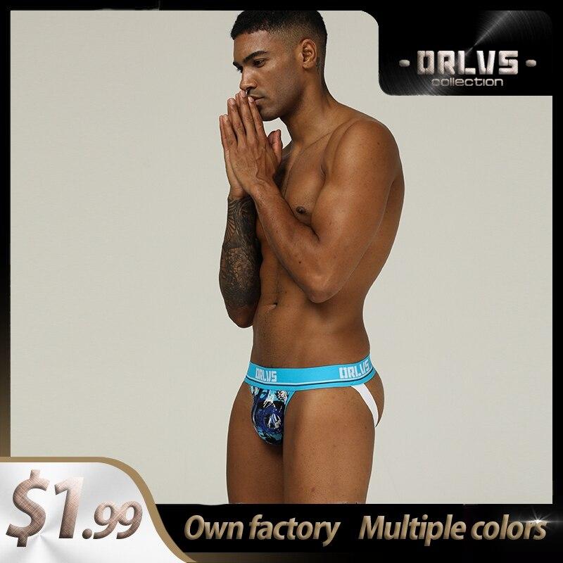 Fashion Cotton Breathable Gay Men Sexy Underwear Thong Men Jockstrap Patchwork Men's Underwear Mens Thongs And G Strings Gift