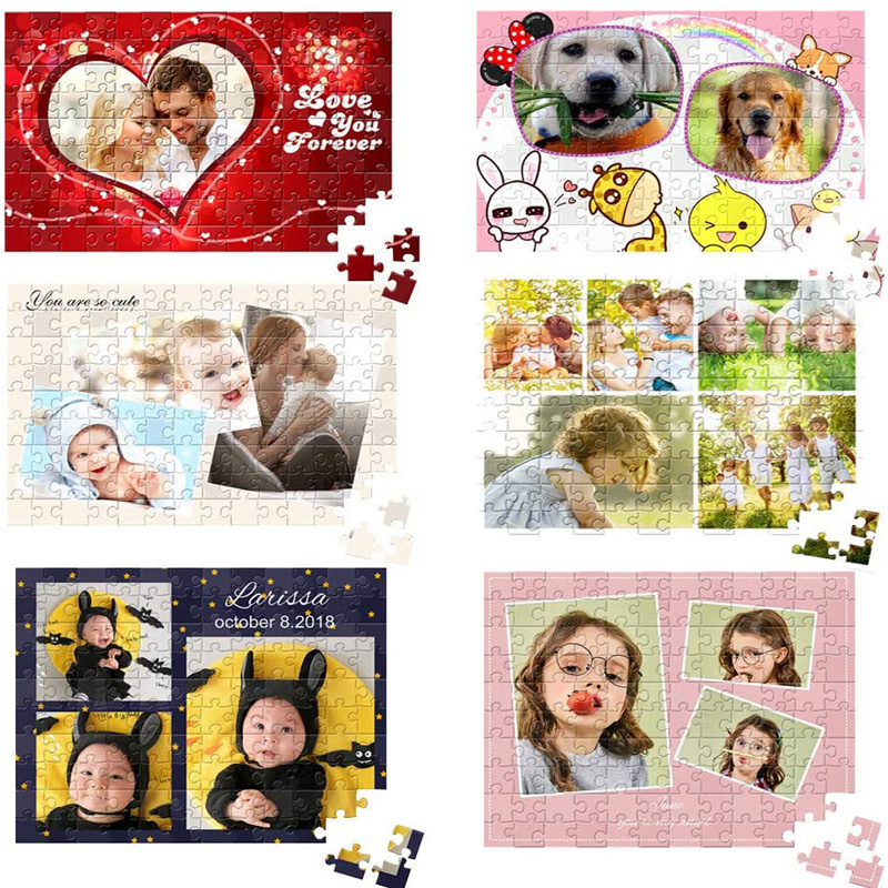 200/300/500/1000/ Pieces Wooden Photo Custom Jigsaw Puzzle DIY Personalized Gifts Puzzles For Kids Adult 6