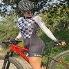 Xama ciclismo manga longa trisuit skinsuit feminino manga curta bicicleta wear macacão conjunto de roupas roadbike ciclo 15
